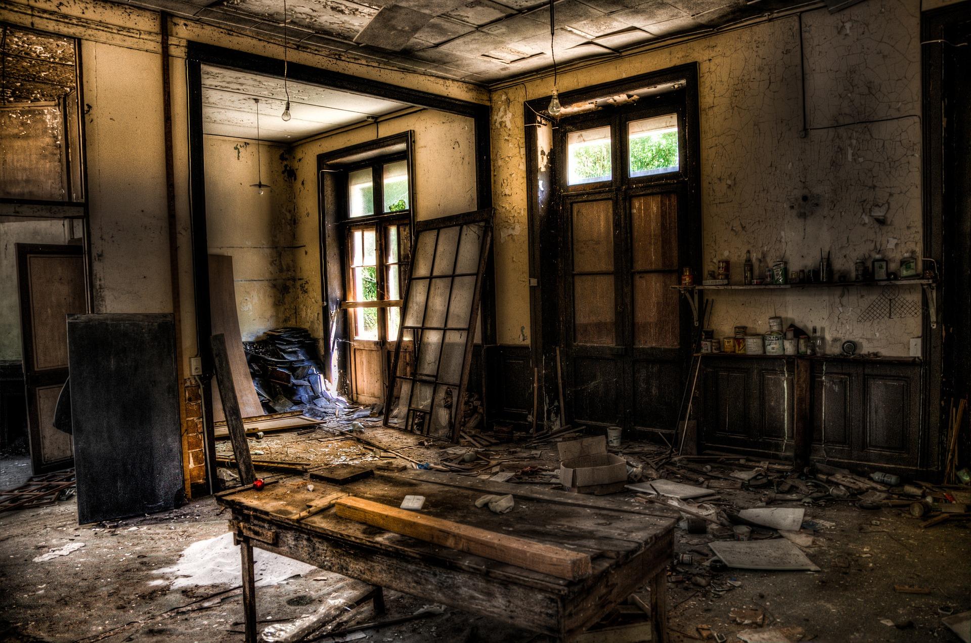 Une maison après un sinistre
